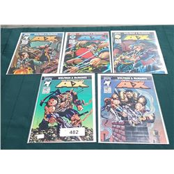 5 VINTAGE COLLECTIBLE A-X $2.95 COMICS