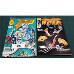 VINTAGE WOLVERINE $1.25 & X-FORCE $1.50 COMICS