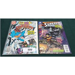 2 VINTAGE COLLECTIBLE SUPERBOY $0.60 & $2.99 COMICS