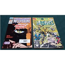 VINTAGE WOLVERINE AND GHOST RIDER $1.25 & THE NEW MUTANTS $2.00