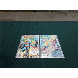 2 VINTAGE SUPERGIRL $0.75 COMICS