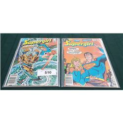 2 VINTAGE SUPERGIRL $0.95 COMICS