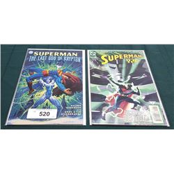VINTAGE SUPERMAN THE LAST GOD OF KRYPTON & SUPERMAN Y2K NO.1 $4.99 COMICS