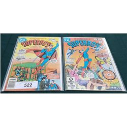2 VINTAGE COLLECTIBLE SUPERBOY $0.60 COMICS