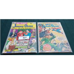 2 VINTAGE COLLECTIBLE JIMMY OLSEN $0.25 COMICS