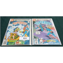 2 VINTAGE COLLECTIBLE SUPERBOY $0.50 COMICS
