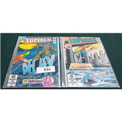 2 VINTAGE COLLECTIBLE SUPERGIRL $0.60 COMICS