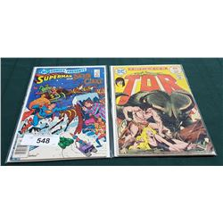 VINTAGE SUPERMAN AND SANTA CLAUS $0.75 & TOR $0.25 COMICS