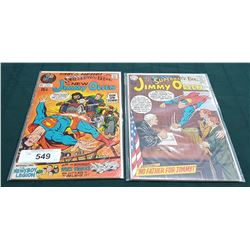2 VINTAGE COLLECTIBLE JIMMY OLSEN $0.15 COMICS