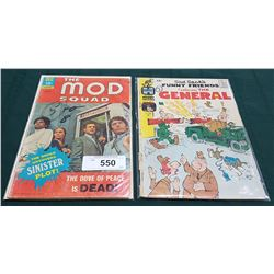 VINTAGE THE MOD SQUAD $0.15 & SAD SACK'S FUNNY FRIENDS-THE GENERAL $0.12 COMICS