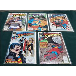 5 VINTAGE COLLECTIBLE SUPERBOY THE COMIC BOOK $1.00