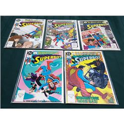 5 VINTAGE COLLECTIBLE THE ADVENTURES OF SUPERBOY  $1..00 COMIS