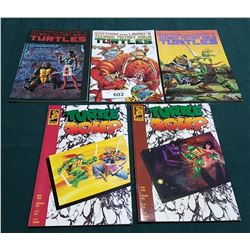 5 VINTAGE COLLECTIBLE TEENAGE MUTANT NINJA TURTLES $2.00 & $2.50 COMICS