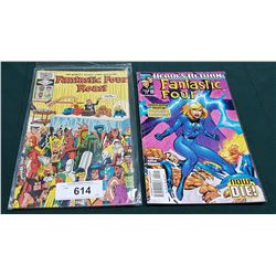 2 VINTAGE COLLECTIBLE FANTASTIC FOUR $0.75 & $1.99 COMICS