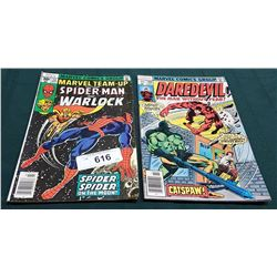 VINTAGE SPIDERMAN AND WARLOCK $0.30 & DAREDEVIL $0.35
