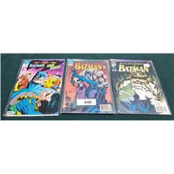 3 VINTAGE COLLECTIBLE BATMAN $1.25 & $2.50 COMICS