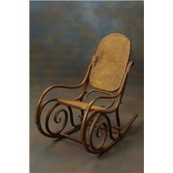 Rockingchair, bent wood, Gustav Siegel