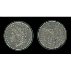 1893o Morgan Dollar in airtite. VF+. Key. 300,000. Trends $475