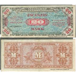 Series 1945 20 Mark note Allied Military Script