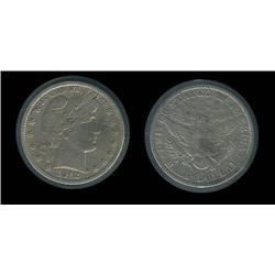 1912-S Barber Half XF details; Minor flaws but very high grade for type, trends $140 in XF