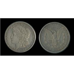1883-S Morgan Dollar  AU detail; AU trends $200!