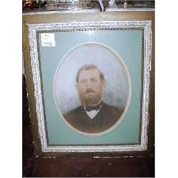 FRAMED AND MATTED PORTRAIT OF MAN FROM CIVIL WAR ERA 31.5' X 26.5""