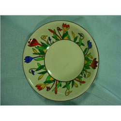 "HANDPAINTED SIGNED AND NUMBERED CROCUSWARE VEGETABLE BOWL. 8.5"" ROUND."