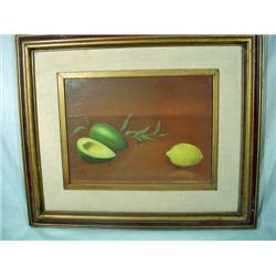FRAMED AND MATTED OIL ON CANVAS STILL LIFE BY MICHAEL SANFRATELLO. 17  X 19