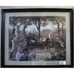 "FRAMED VICTORIAN LITHOGRAPH R. LE BRON. 29' X 34""."