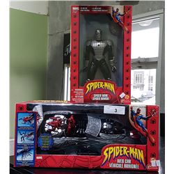 NIB SPIDERMAN ACTION FIGURE & WEBCAR