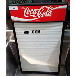 ORIGINAL COCA-COLA MENU BOARD