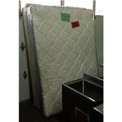 NEW QUEEN SIZE BOX SPRING & MATTRESS FROM THE TV SET