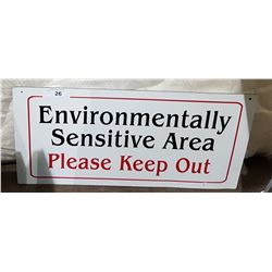 ORIGINAL ENVIRONMENTALLY SENSITIVE AREA SIGN