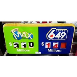 DOUBLE SIDED LOTTERY SIGN