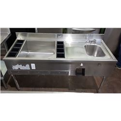 QUEST PROFESSIONAL STAINLESS STEEL BAR SINK & DRINK WELL