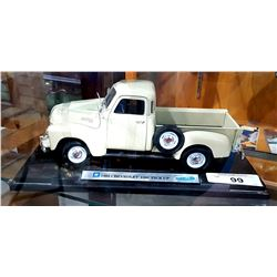1953 CHEVROLET DIE CAST PICK UP ON STAND