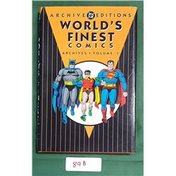WORLD'S FINEST COMICS ARCHIVES VOL. 1 HARD COVER COMIC BOOK