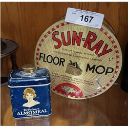 2 1920'S COLLECTIBLE TINS
