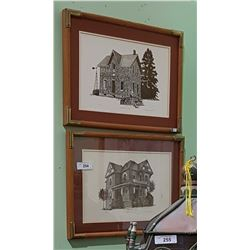 2 VINTAGE FRAMED LIMITED EDITION PRINTS BY BRUCE CARROLL