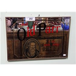 GRAND OLD PARR WHISKEY BAR MIRROR