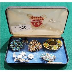 VINTAGE COSTUME JEWELRY, INCLUDING ONE PIECE OF SHERMAN