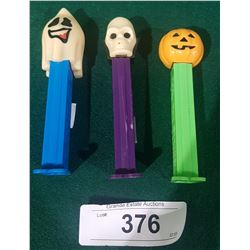 3 VINTAGE HALLOWEEN PEZ DISPENSERS