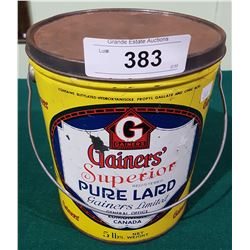 VINTAGE GAINERS SUPERIOR PURE LARD PALE