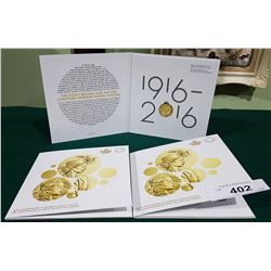 3 ROYAL CANADIAN MINT 100TH ANNIVERSARY OF WOMENS RIGHT TO VOTE LOONIES