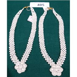 2 GENUINE FRESH WATER PEARL NECKLACES