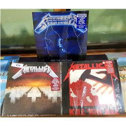 3 VINTAGE COLLECTIBLE METALLICA LP'S