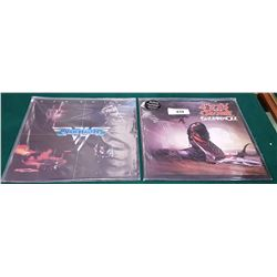 VINTAGE COLLECTIBLE OZZY OSBOURNE AND VAN HALEN LP'S