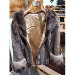 LADIES FAUX FUR JACKET