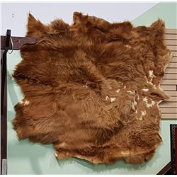 VINTAGE SCOTTISH HIGHLAND LONGHAIR COW HIDE