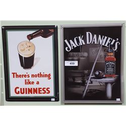 2 TIN ADVERTISING SIGNS